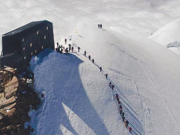 Experience (price per group): MOUNTAIN SHELTER CAPANNA MARGHERITA PUNTA GNIFETTI 4.554M