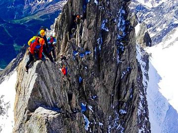 Experience (price per group): AIGUILLE D'ENTREVES CROSSING