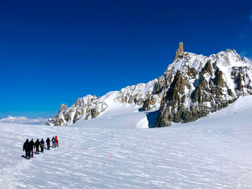 Private Experience (price per group): SNOWSHOEING AND GLACIER HIKES ON THE MONT BLANC MASSIF