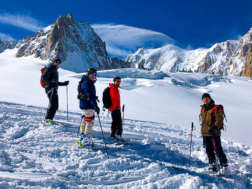 Experience (price per group): VALLÉE BLANCHE