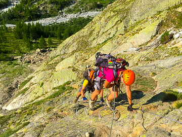 Experience (price per group): VIA FERRATA TO THE MONZINO REFUGE