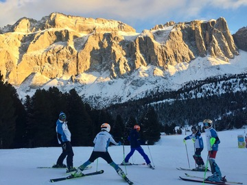 Private Experience (price per group): SKI LESSONS IN THE DOLOMITES