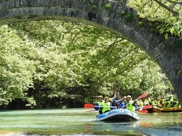 Social Experience (price per person): RAFTING IN VOIDOMATIS RIVER, ZAGORI