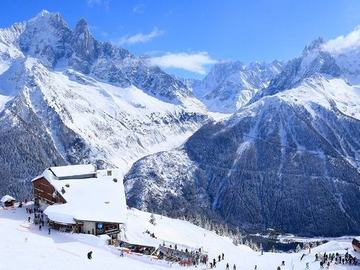 Experience (price per person): Ski lesson Mont Blanc area: Chamonix-Megeve-Courmayeur (half day)