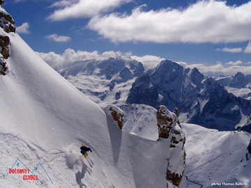 Experience (price per person): FREERIDE DAY ON THE SELLA GROUP