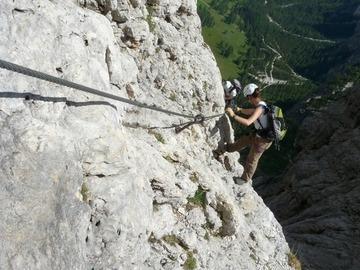 Experience (price per group): Ferrata Brigata Tridentina al Pisciadù