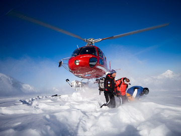 Experience (price per group): Heliskiing