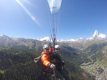 Private Experience (price per group): Tandem Paragliding Flight / Tandem Gleitschirmflug Rothorn