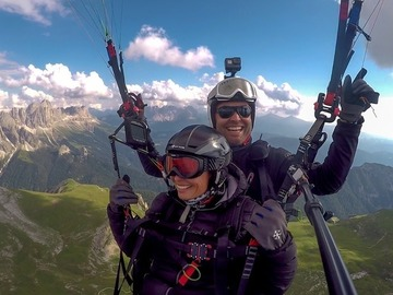 Social Experience (price per person): Tandem Paragliding over the top on the Alpe di Siusi - Dolomites