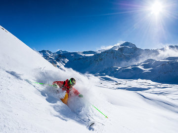 Experience (price per group): Full day off-piste in Val Thorens