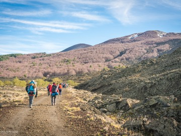 Adventure (price per person): Etna high-mountain trail, 36 km of trekking, 2 days of adventure