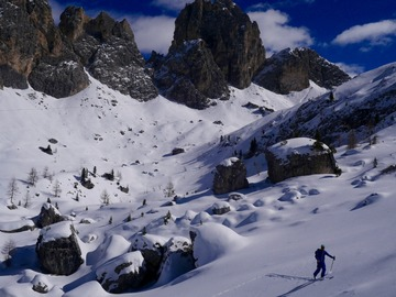Experience (price per person): Ski touring in Dolomites (Arabba, Cortina, Corvara, Marmolada)