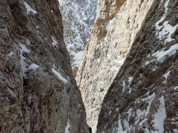Experience (price per person): Ice climbing mixed Dolomites Sassolungo goulotte Holzknecht