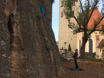 Experience (price per group): Klettern über den Dächern der Stadt Salzburg
