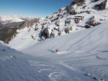 Esperienza (prezzo a persona): Freeride in Dolomiti, il battesimo della polvere