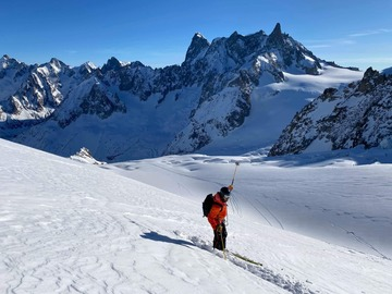 Entdeckung (preis pro person): Vallee Blanche guided freeride descend