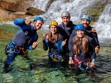 Experience (price per person): Canyoning day in Valbodengo for beginners and families - 1° level