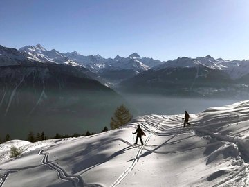 Experience (price per person): Snowshoe tour Crans Montana