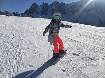 Experience (price per group): Snowboard lessons in Chamonix
