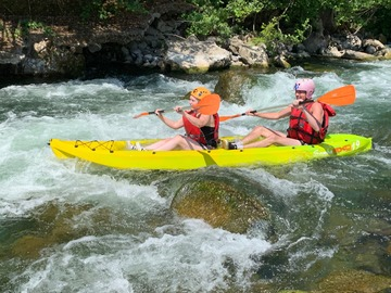 Experience (price per person): Kayak sit on top river experience