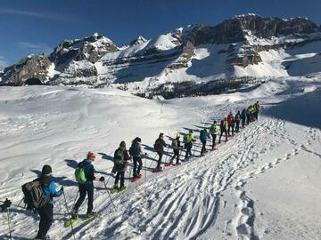 Experience (price per person): Snowshoeing in the Brenta Dolomites