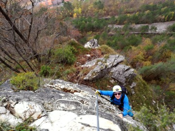 Experience (price per person): Approaching the via ferrata