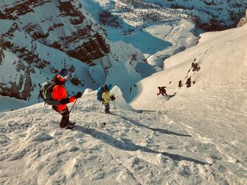 Experience (price per group): Steep skiing in the Brenta Dolomites