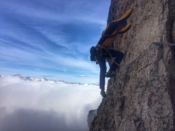 Experience (price per person): Multi-pitch rock climbing in the Dolomites
