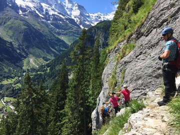 Experience (price per person): Via Ferrata (fixed rope route) Mürren