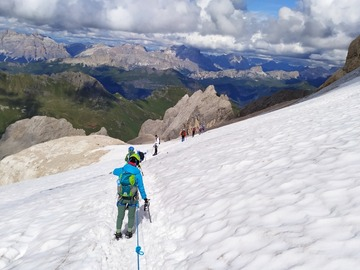 Experience (price per person): Marmolada Ascent along the Via Ferrata west Punta Penia