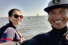 Experience (price per person): Kitesurf lessons in the lagoon of Sant'Antioco, Sardegna