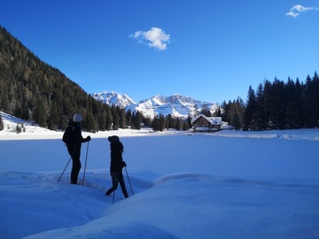 Entdeckung (preis pro person): SNOWSHOEING IN MADONNA DI CAMPIGLIO, DOLOMITES