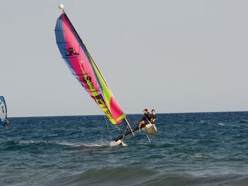 Experience (price per group): Bautizo de vela en catamaran