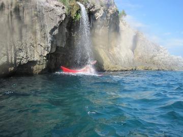 """Experience (price per person): """"La Cascatella"""" In Kayak"""